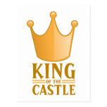 König des Schlosses Postkarte
