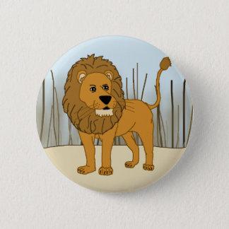 König des Tieres - Löwe Runder Button 5,7 Cm