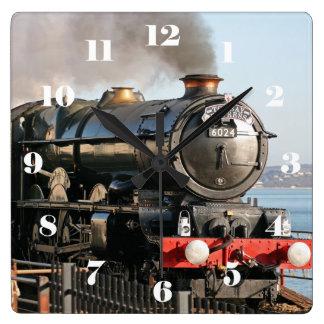 König Edward I - alle Zahlen GWR König-Class 6024 Quadratische Wanduhr