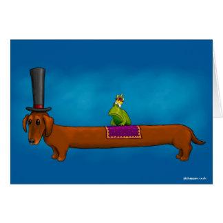 """""""König Frog auf einem Wurst-Hund"""" Karte"""
