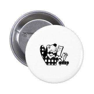 König Mutt des Vatis Tages Runder Button 5,7 Cm