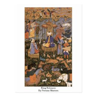 König Solomon By Persian Masters Postkarte