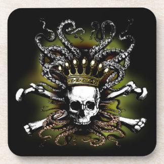 König Squid Skull Cork Coaster Untersetzer