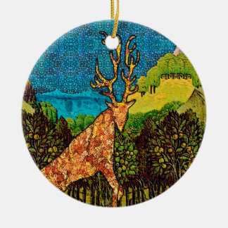 König Stag Keramik Ornament
