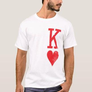 König und Königin der Herz-Spielkarte-Paare T-Shirt