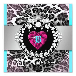 Königin 311-Leopard-Tique von Herzen 21 Quadratische 13,3 Cm Einladungskarte