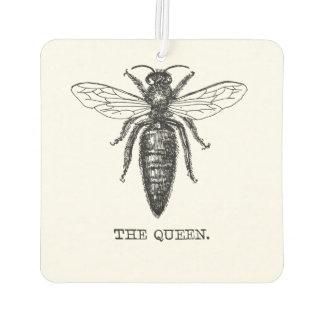 Königin-Biene, die Vintages Schwarzes zeichnet Autolufterfrischer