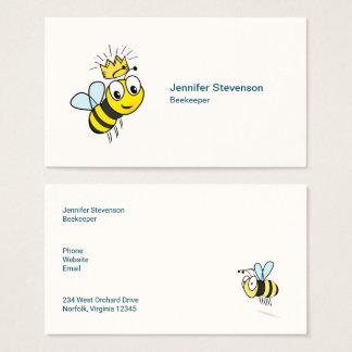 Königin-Bienen-niedliche Hummel-Biene mit Krone Visitenkarte