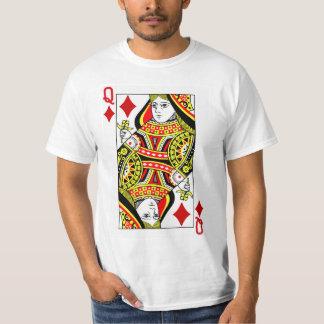 Königin der Diamant-Spielkarte T-Shirt