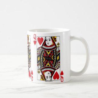 Königin der Herz-Spielkarte Kaffeetasse
