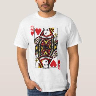 Königin der Herz-Spielkarte T-Shirt