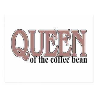 Königin der Kaffeebohne Postkarte