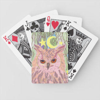 Königin der NachtGirly Eulen-Fahrrad-Karten Bicycle Spielkarten