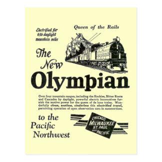 Königin der Schienen - neuer Olympier 1929 Postkarte