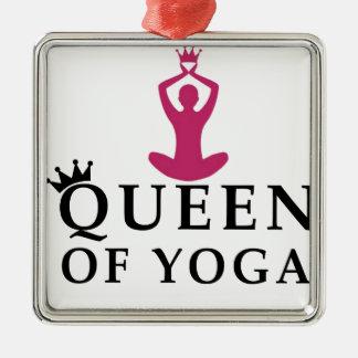 Königin der Yogakrone Silbernes Ornament