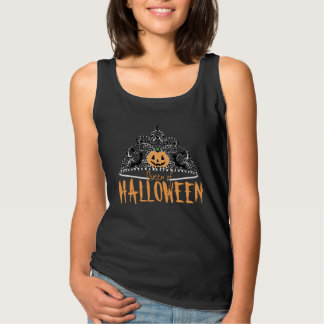 Königin des Halloween-Behälter-Schwarzen Tank Top