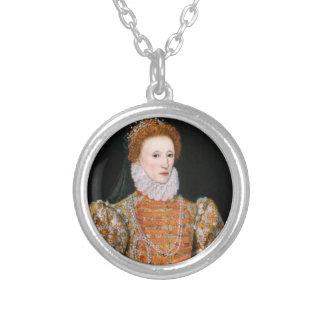 Königin Elizabeth - Necklance Halskette Mit Rundem Anhänger