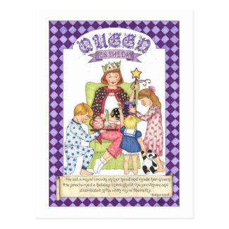 Königin für die Tagesinspirierend Postkarte