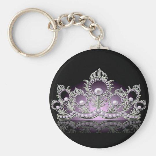 Königin-Krone Keychain Standard Runder Schlüsselanhänger