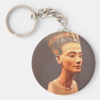 Königin Nefertiti Standard Runder Schlüsselanhänger