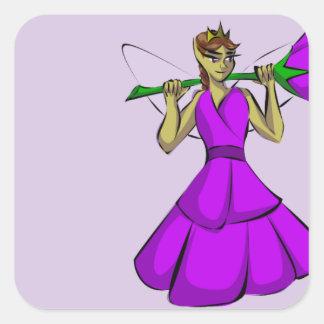 Königin Rumpleknoll Quadratischer Aufkleber