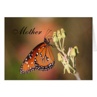 Königin-Schmetterling der Mutter Tages Grußkarte