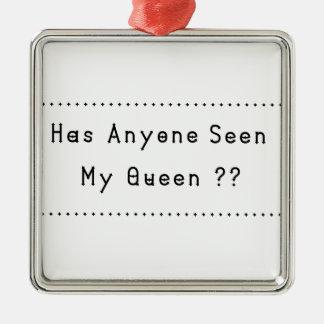 Königin Silbernes Ornament