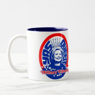 Königin-Tasse Hillary Clinton Yas Zweifarbige Tasse