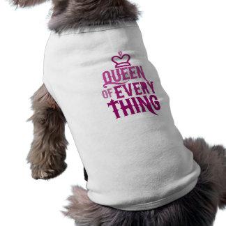 Königin von alles ärmelfreies Hunde-Shirt