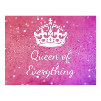 Königin von alles Krone rosa Bokeh Postkarte