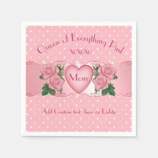 Königin von alles Rosa-Mamma Papierservietten