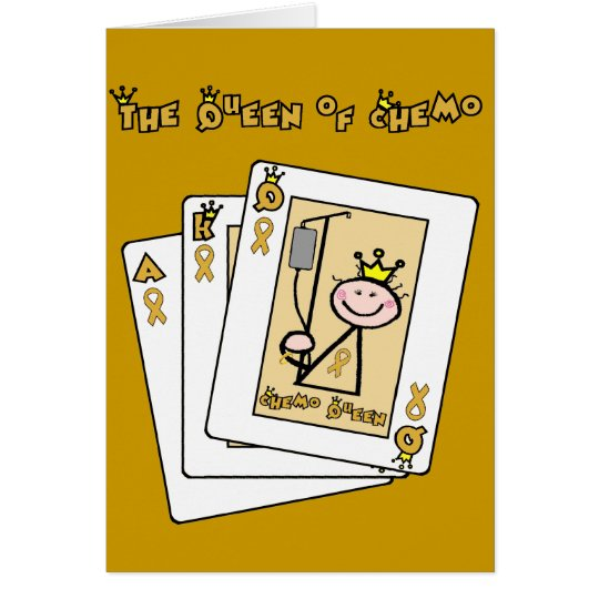 Königin von Chemo - Kindheits-Krebs-Goldband Karte
