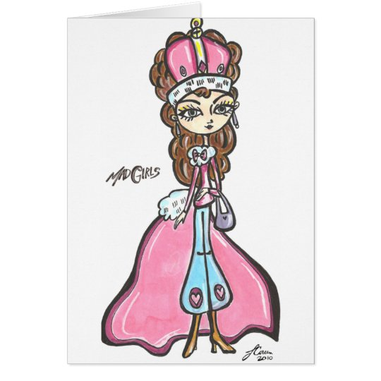Königin von wütendem karte