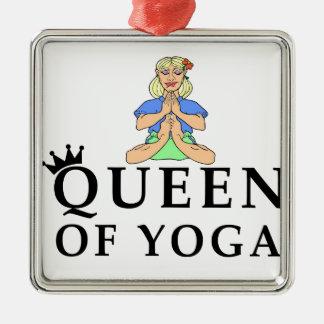 Königin von Yoga Silbernes Ornament