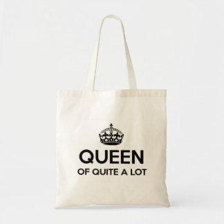 Königin von ziemlich viel budget stoffbeutel