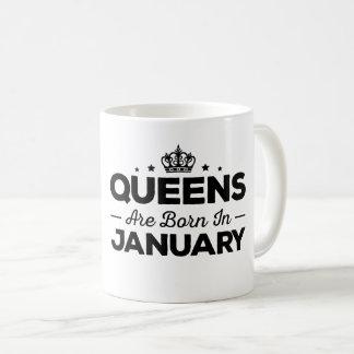 Königinnen sind im Januar geboren Tasse