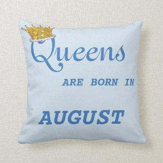 Königinnen sind im Kissen-Blau geboren Kissen