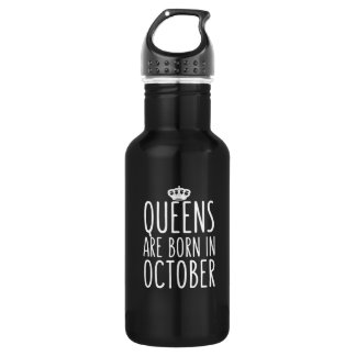 Königinnen sind im Oktober geboren Edelstahlflasche