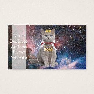 Königkatze im Raum Visitenkarte