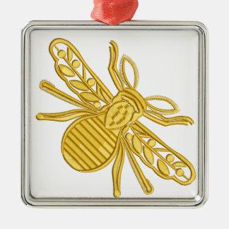 königliche Biene, Nachahmung der Stickerei Silbernes Ornament