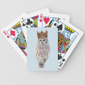 Königliche Eule #1 Bicycle Spielkarten