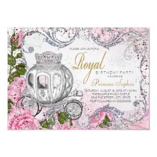 Königliche Geburtstags-Party-Prinzessin 11,4 X 15,9 Cm Einladungskarte