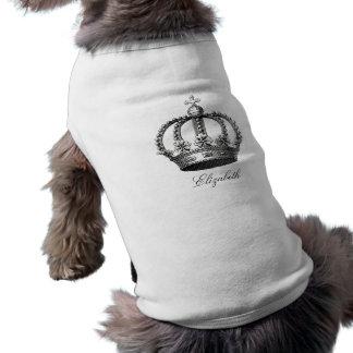 Königliche Kronen-Haustier-Kleidung Shirt