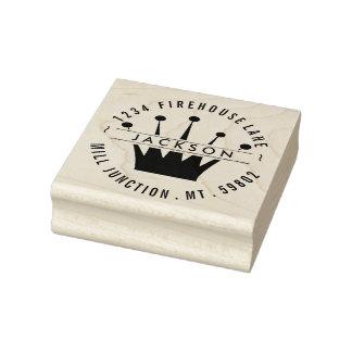 Königliche Kronen-Rücksendeadresse-Briefmarke Gummistempel