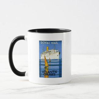 Königliche Post Atlantis kreuzt Vintag Tasse