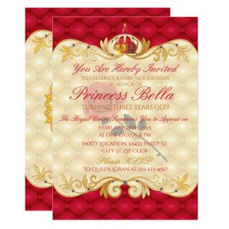 Königliche Prinzessin, Rosen-Geburtstag 12,7 X 17,8 Cm Einladungskarte
