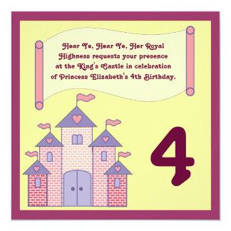 Königliche Proklamations-Geburtstags-Einladung Quadratische 13,3 Cm Einladungskarte