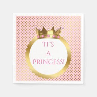 Königliche Punkte Prinzessin-Pink Jewelled Gold Serviette