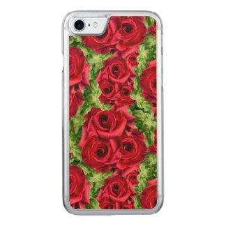 Königliche Rosen-königliche Romance hochrote Carved iPhone 8/7 Hülle