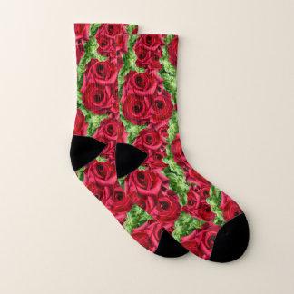Königliche Rosen-königliche Romance hochrote Socken